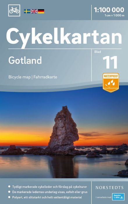 Sweden Cycling Map 11 - Gotland